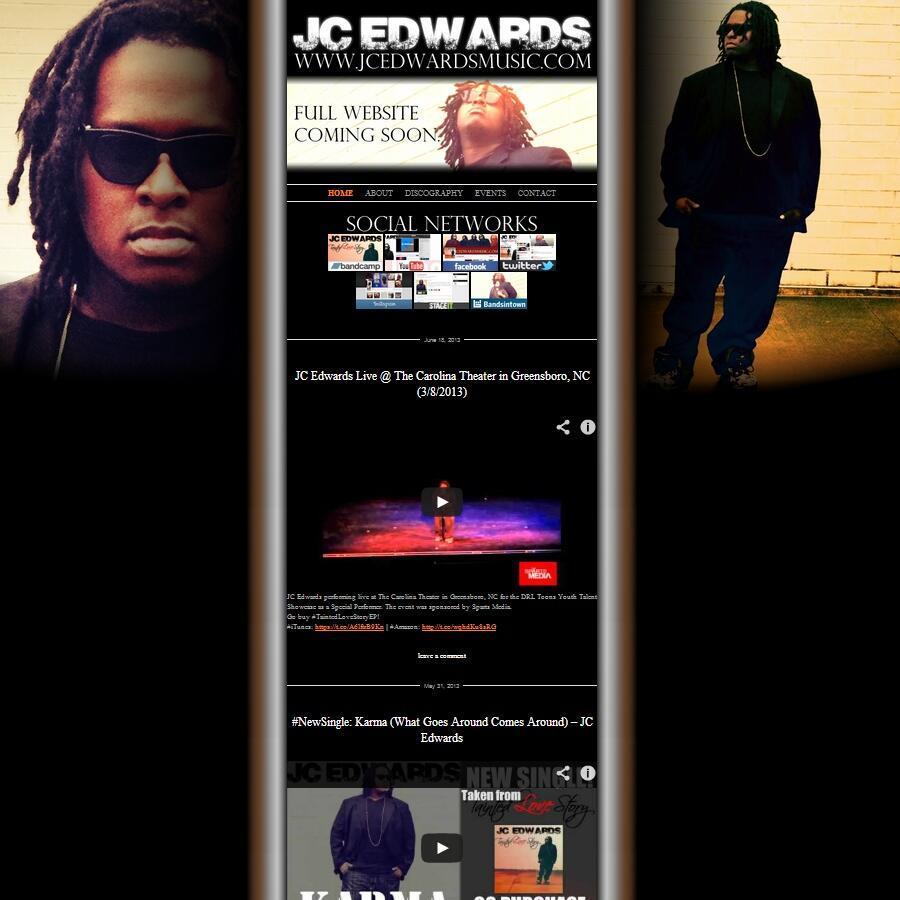 [Site] JCEdwardMusic.com Temp Site