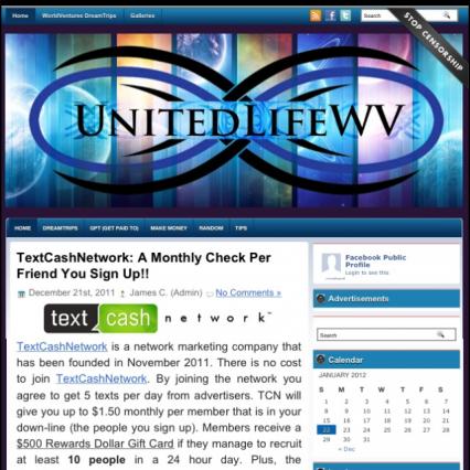 [Site] UnitedLifeWV Blog
